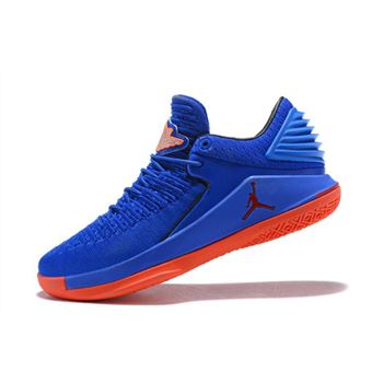 New Air Jordan 32 Low Blue Orange Men's Basketball Shoes