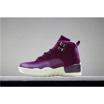 Kid's Air Jordan 12 Bordeaux Bordeaux/Sail/Metallic Silver