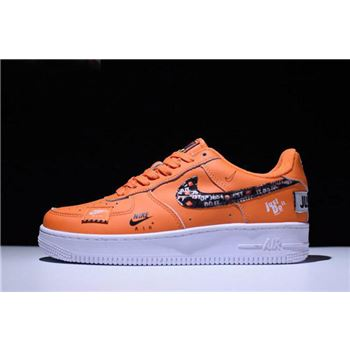 Nike Air Force 1 '07 PRM Just Do It Total Orange/Black-White AR7719-800
