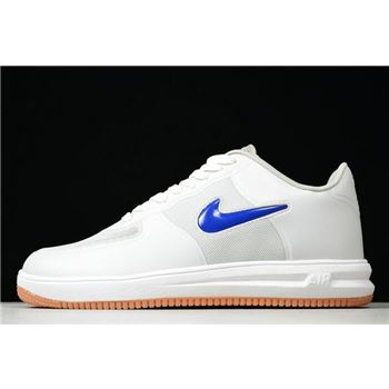 CLOT ?? Nike Lunar Force 1 Fuse SP 10th Anniversary Neutral Grey/University Red-Game Royal-White 717303-064