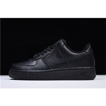 Nike Air Force 1 '07 Triple Black 315122-001 Free Shipping