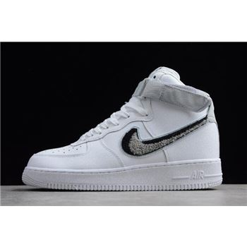 Nike Air Force 1 High '07 LV8 Chenille Swoosh White/Pure Platinum/Black/Wolf Grey 806403-105